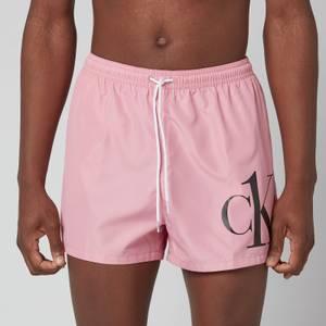 Calvin Klein Men's Short Drawstring Logo Swim Shorts - Lovely Blush
