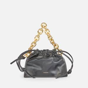 Yuzefi Women's Mini Bom Leather Tote Bag - Black