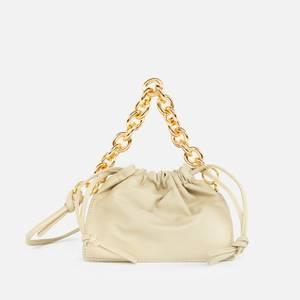 Yuzefi Women's Mini Bom Leather Tote Bag - Olive
