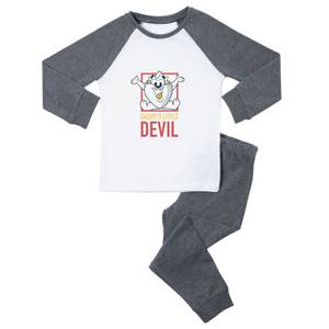 Looney Tunes Daddy's Little Devil Kids' Pyjamas - White/Grey