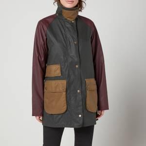 Barbour Women's Luss Wax Jacket - Sage/Bordeaux/Sand