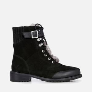 EMU Australia Women's Waldron Mix Waterproof Suede Lace Up Boots - Black