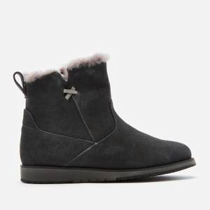 EMU Australia Women's Beach Mini Water Resistant Suede Boots - Dark Grey/Black