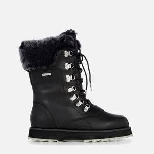 EMU Australia Women's Sharky Comoro Waterproof Leather/Sheepskin Boots - Black