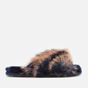 EMU Australia Women's Mayberry Lava Sheepskin Cross Front Slippers - Midnight