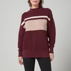Barbour International Women's Chicane Knitted Jumper - Merlot