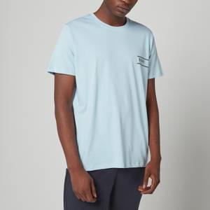 BOSS Bodywear Men's Relaxed Fit Chest Logo T-Shirt - Light Pastel Blue