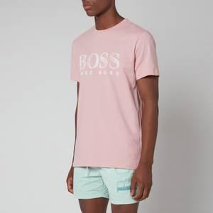 BOSS Bodywear Men's Relaxed Fit Upf 50+ T-Shirt - Open Pink