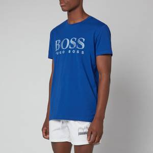 BOSS Bodywear Men's Relaxed Fit Upf 50+ T-Shirt - Medium Blue