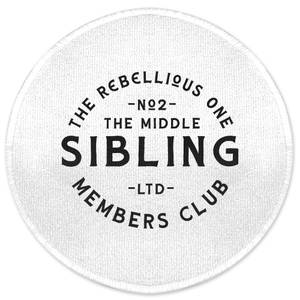The Middle Sibling The Rebellious One Round Bath Mat