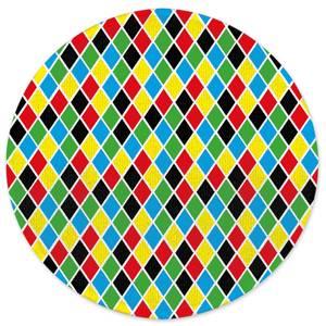 Clown Pattern Round Bath Mat