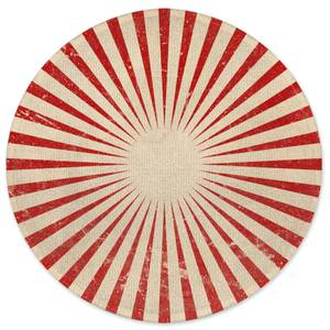 Circus Beams Red Round Bath Mat