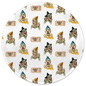Circus Clown Pattern Round Bath Mat