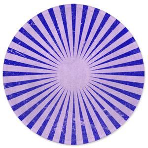 Circus Beams Purple Round Bath Mat