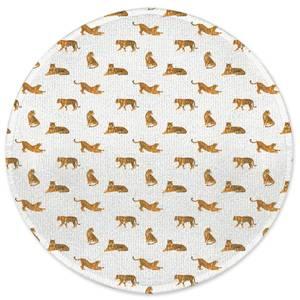 Cheetahs Round Bath Mat