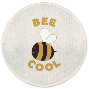 Bee Cool Round Bath Mat