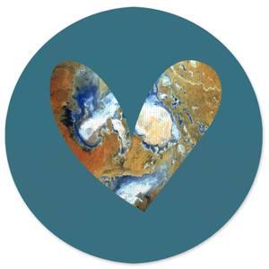 Heart Earth Round Bath Mat