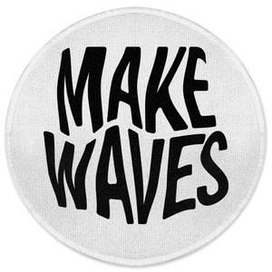 Make Waves Round Bath Mat