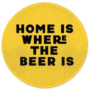 Home Is Where The Beer Is Round Bath Mat