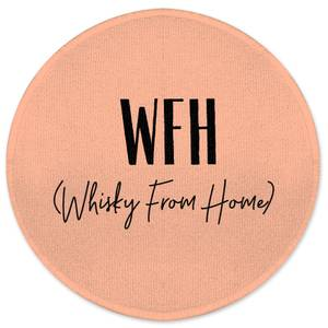 WFH - Whisky From Home Round Bath Mat