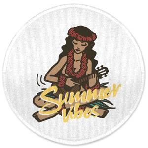 Summer Vibes Round Bath Mat