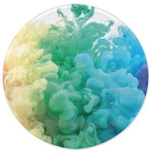 Rainbow Smoke Round Bath Mat