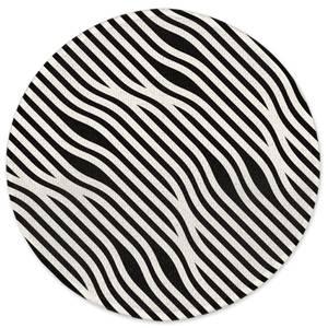 Weaved Lines Round Bath Mat