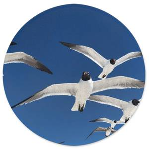 Seagulls Round Bath Mat