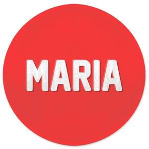 Embossed Maria Round Bath Mat