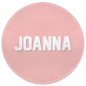 Embossed Joanna Round Bath Mat