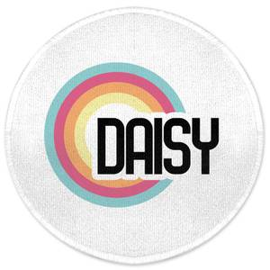 Daisy Rainbow Round Bath Mat