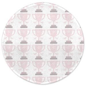 First Prize Pattern Round Bath Mat