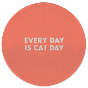 Every Day Is Cat Day Round Bath Mat