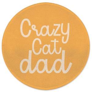 Crazy Cat Dad Round Bath Mat