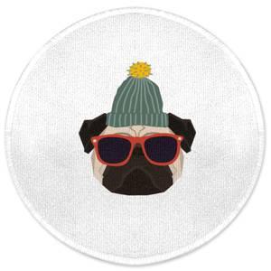 Cool Pug Round Bath Mat