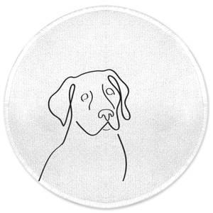 Line Drawing Dog Round Bath Mat