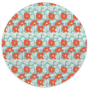 Bright 60s Flower Round Bath Mat