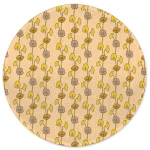 60s Light Flower Round Bath Mat