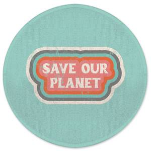 Save Our Planet Round Bath Mat