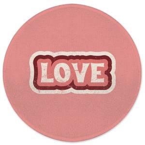 Love Round Bath Mat