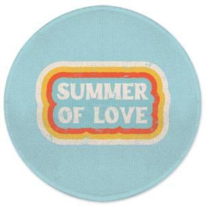 Summer Of Love Round Bath Mat
