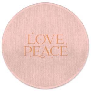 Love Peace Round Bath Mat