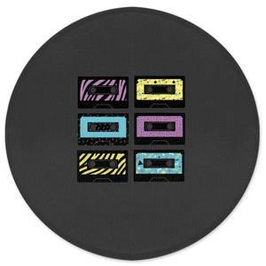 Cassette Graphic Round Bath Mat