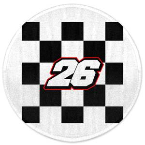 Motorcycle Number 26 Round Bath Mat