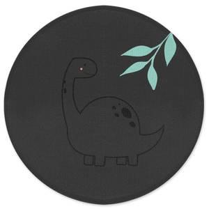 Pastel Diplodocus Round Bath Mat