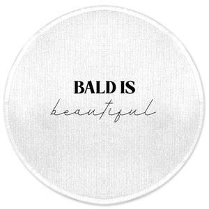 Bald Is Beautiful Round Bath Mat