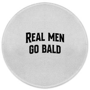 Real Men Go Bald Round Bath Mat