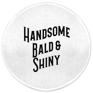 Handsome, Bald And Shiny Round Bath Mat