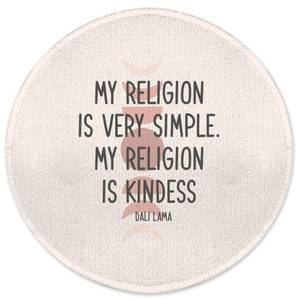 My Religion Is Very Simple Round Bath Mat