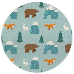 Forest Animals Round Bath Mat